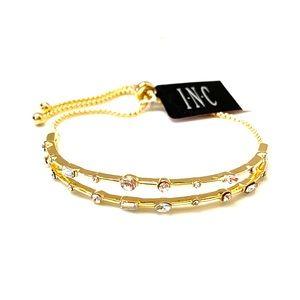 ✨NWT INC Gold Crystal Slider Bracelet